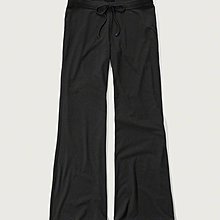 Maple麋鹿小舖 Abercrombie&Fitch * AF 黑色素面棉質長寬褲 * ( 現貨XS號 )