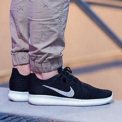 Nike Free RN Flyknit 黑白 針織 赤足 5.0 編織 男女 慢跑 831069-001 台北市