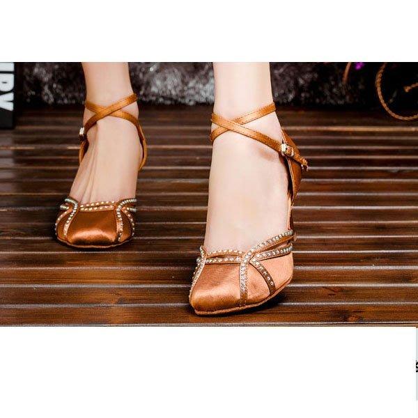 5Cgo【鴿樓】會員有優惠 19392381725 女包頭拉丁舞鞋成人軟底舞蹈鞋 廣場舞鞋 交誼舞鞋