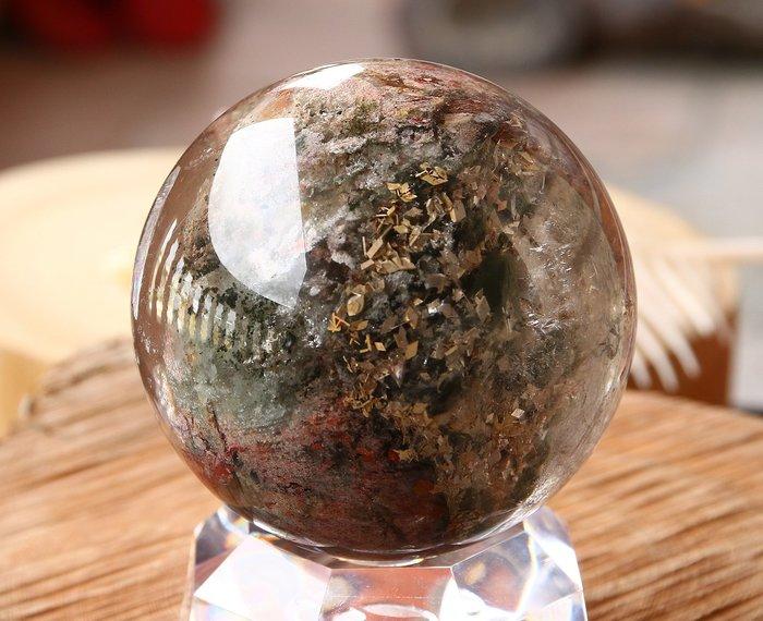 孟宸水晶 = A926 (頂級100%天然意象綠幽靈水晶球)