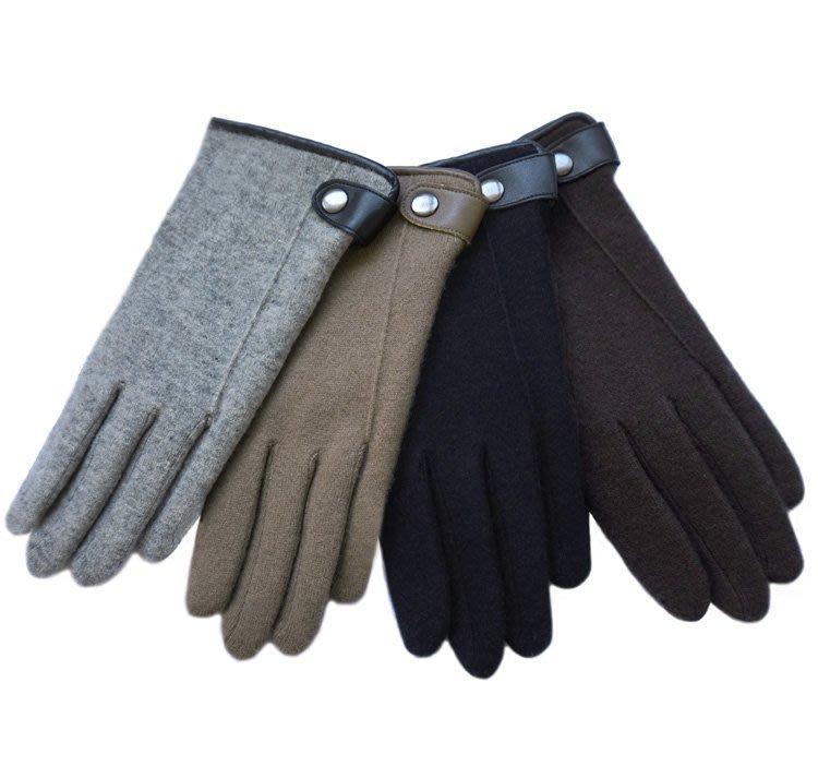 手套 保暖男士冬季加絨加厚羊毛手套羊絨雙層手套觸屏保暖騎行