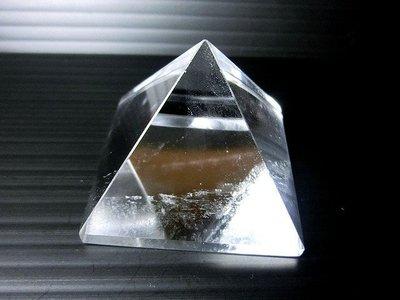 □§Disk的天然水晶§□【神秘力量】天然白水晶金字塔GC-36-5~~全館滿千9折+超取免運