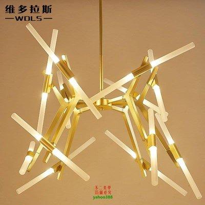 【美學】設計師的摯愛後現代樹枝人字樹杈餐廳燈 時尚LED客廳吊燈MX_262
