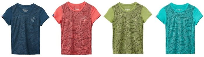 WILDLAND 荒野 男女童 棉感抗UV印花上衣 排汗衣 圓領上衣 運動上衣 吸濕快乾 童裝T恤 0A61660