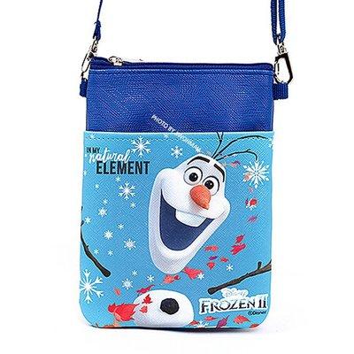 ♀高麗妹♀韓國 Disney FROZEN II 冰雪奇緣2 方格子側背包雪寶款/活動可調式背帶(預購)