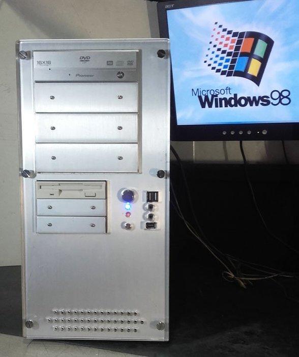【窮人電腦】跑Windows 98系統!自組雙CPU經典ISA插槽工業機出清!雙北桃園親送外縣可寄!