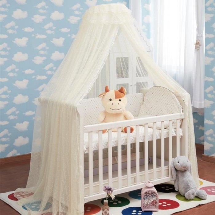 嬰兒床蚊帳落地支架宮廷夾式兒童BB開門蚊帳帶支架寶寶帳罩