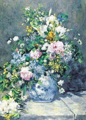 日本進口拼圖 名畫 春的花束 Renoir 雷諾瓦  2000片拼圖 54-025