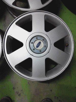 中古鋁圈 15吋 原廠 FORD 福特 TIERRA LS RS AERO 6爪平面亮銀 4孔100 4/100 你愛他 LI