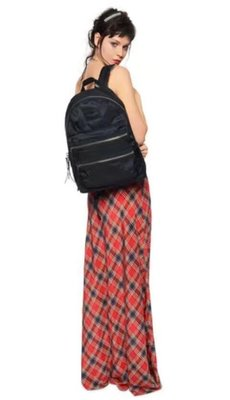 ╭☆包媽子店☆ Marc Jacobs Nylon Biker Backpack 黑色尼龍布金/銀色拉鏈雙肩包 大/小號