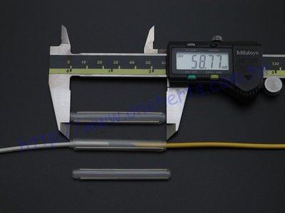 不銹鋼光纖熱縮管雙針 扁平單模光纜 光纖跳線 皮線光纜 扁平光纖 熔接 60mm  500支包裝
