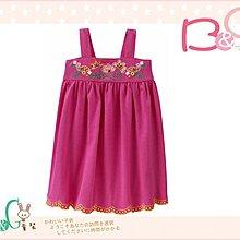 【B& G童裝】正品美國進口GAP 刺繡花圖樣粉紅色背心裙4yrs