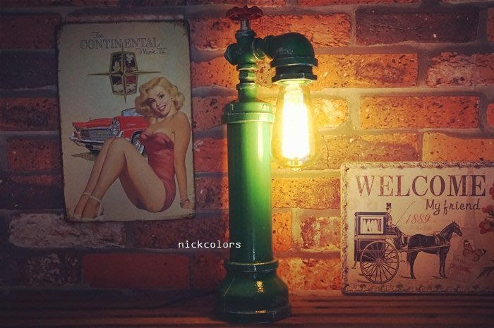 尼克卡樂斯~重工業金屬水管水龍頭桌燈 玄關燈 臥室壁燈 loft 設計款壁燈 餐廳燈 復古燈 服飾店 咖啡廳 造型燈飾