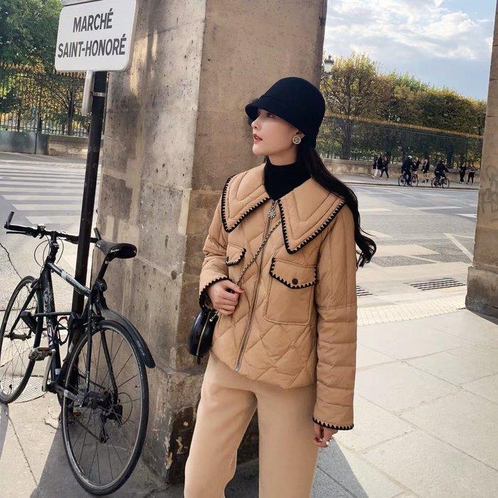 ❤JM SHOP韓風❤刺繡輕型小香風短款羽絨服