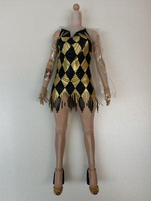 Hottoys Harley Quinn 小丑女身體連衫加地台  Dancer Dress Version MMS439 hot toys 散件如上圖