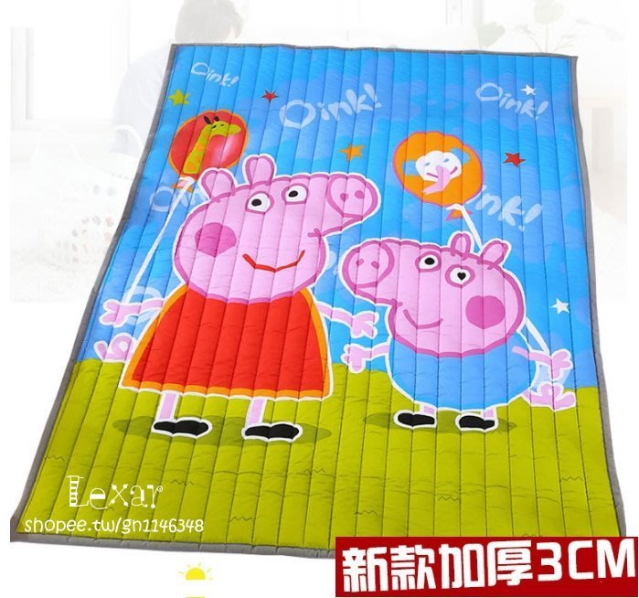 3cm厚度全棉寶寶爬行墊加厚特價兒童地毯防滑家用爬爬地墊