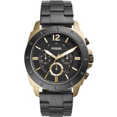 現貨 Fossil Privateer Sport BQ2196 Men's Black Stainless Chronograph Watch 石英(電池)