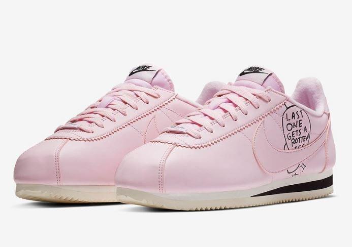 沃皮斯§Nathan Bell x Nike Cortez 阿甘 粉 男女段 慢跑 休閒鞋 BV8165-600