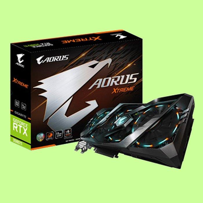 5Cgo【聯強】技嘉 NVIDIA AORUS GeForce RTX 2080 Ti XTREME 11G 電競顯示卡