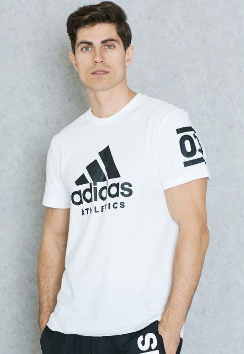 運動GO~ ADIDAS 愛迪達 短袖 圓領 上衣 休閒 舒適 棉質 白黑 運動 T恤 男 穿搭 B45737