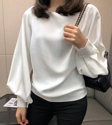 《巴黎拜金女》女王範十足袖子開衩設計加厚重磅真絲襯衫