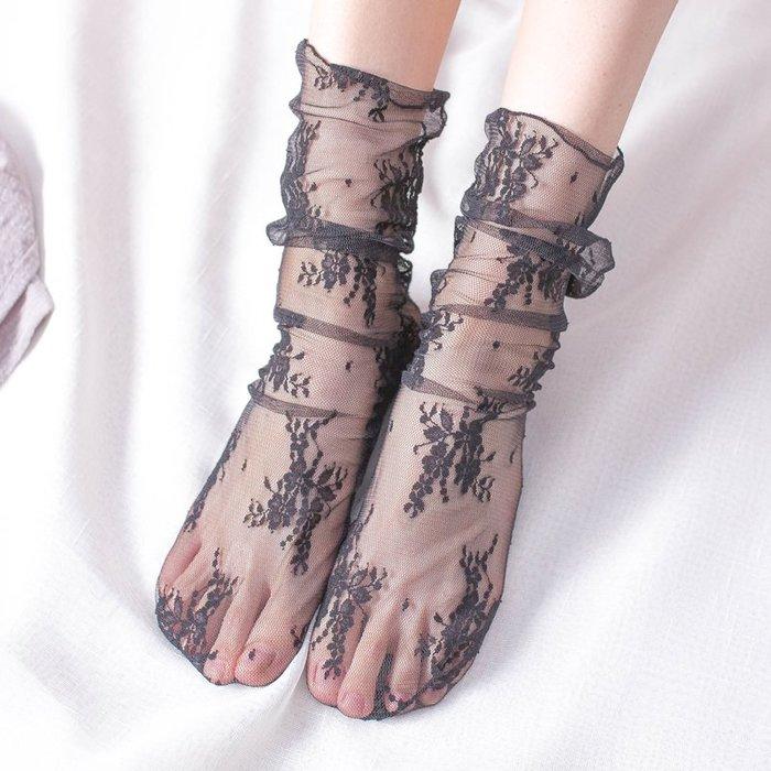 襪子短襪中筒襪中統透氣舒適高中襪學生襪運動襪男女創意襪子日系透明蕾絲襪子薄款絲襪韓國學院風女薄款網紗襪中筒堆堆襪潮