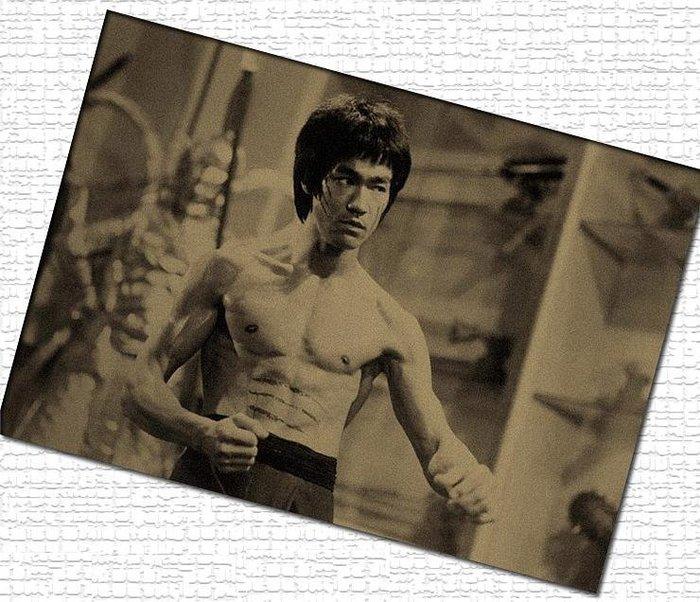 【貼貼屋】李小龍Bruce Lee 經典懷舊復古 牛皮紙海報 壁貼 店面裝飾 經典電影海報 236