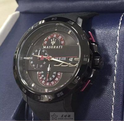 請支持正貨,瑪莎拉蒂手錶MASERATI手錶INGEGNO款,編號:R8871619003,黑色錶面黑色PU錶帶款