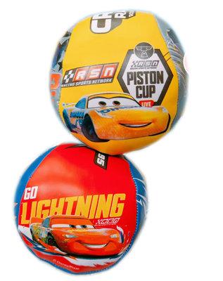 【卡漫迷】 Cars 拋接球 二顆組 小 ㊣版 軟球 海綿球 幼童 觸感統合 軟足球 運動 閃電麥坤 賽車 汽車總動員