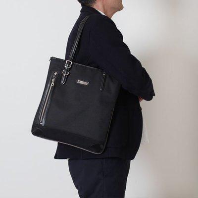 日本 PRO-SPERITY 黑色皮革 正方 商務 手提袋 ($250 包順豐)