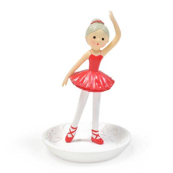 芭蕾小棧生日畢業表演禮物日本進口Shinzi Katoh加藤真治首飾盤首飾架擺飾紅衣舞者