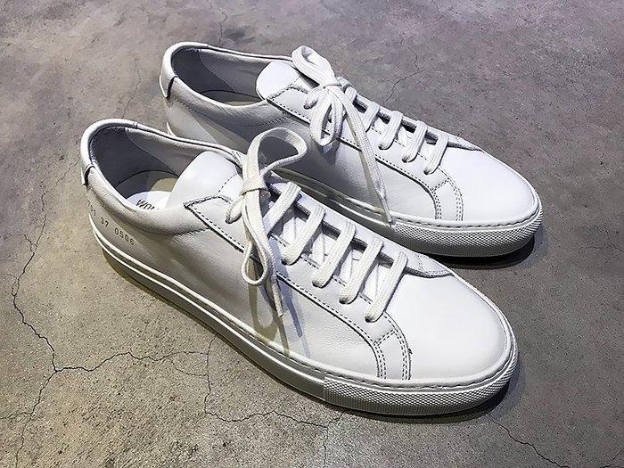 現貨【COMMON PROJECTS】19春夏 ORIGINAL ACHILLES皮革休閒鞋 女 白色 *30%OFF*