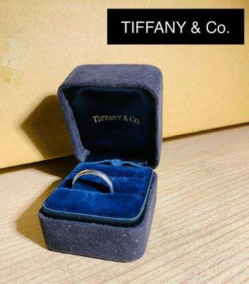 TIFFANY & CO.蒂芬妮 LUCIDA 簡約鉑金戒指 保卡 購買證明 全配 含運