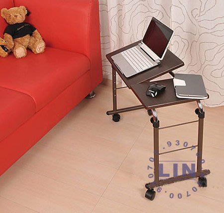 【品特優家具倉儲】R11-02電腦桌安曼多功能折疊桌胡桃