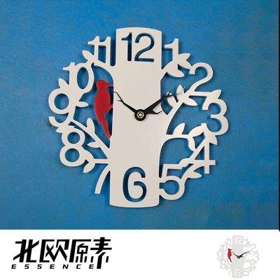 【北歐原素】創意木質樹形小鳥掛鐘/客廳時鐘錶家用現代簡約(LS0115)-YKS 非