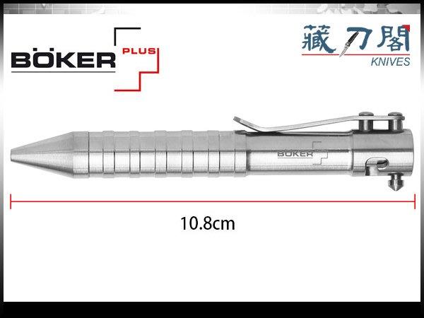 《藏刀閣》BOKER Plus-(K.I.D.cal.50 Titan)鈦槍栓式戰術筆(短)