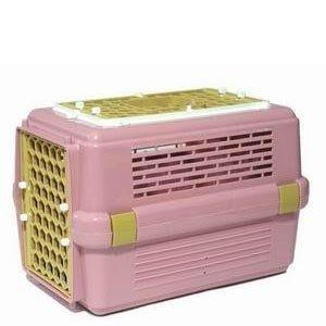 皇冠 ACEPET 上開式雙門寵愛籠 小型犬貓狗外出提籠 運輸籠 車載籠#843天窗款(粉紅)550元