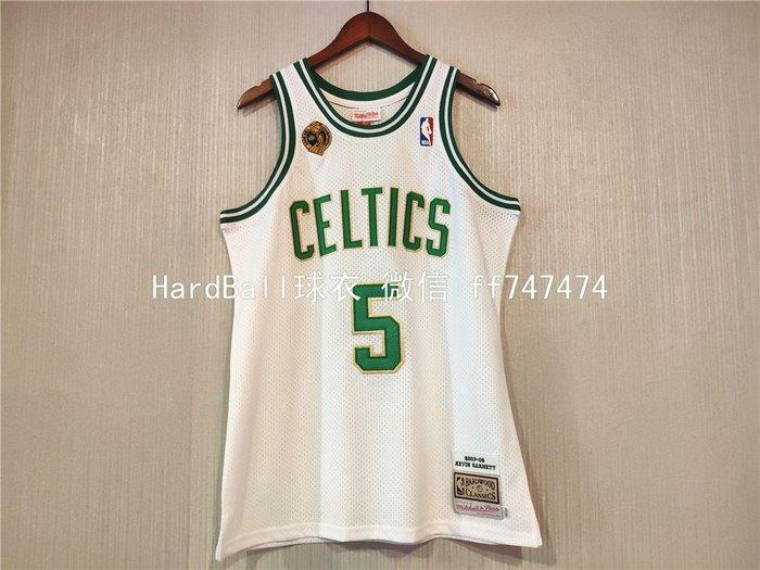 凱文·賈奈特(Kevin Garnett)NBA冠軍球衣标球衣  波士頓塞爾提克隊 5號 白色