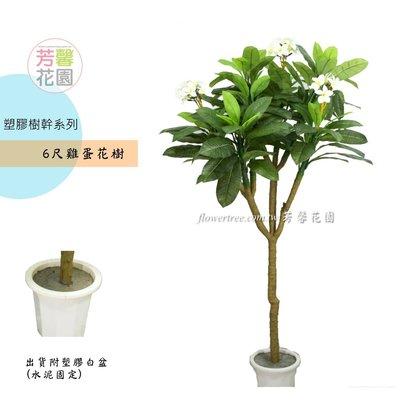 【☆芳馨花園☆】人造樹~6尺雞蛋花樹盆栽【G11246】-南洋自然風格,景觀造景 園藝布置