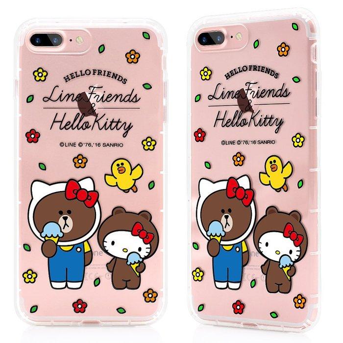 GARMMA Hello Kitty 聯名Line iPhone 8/7 - 空壓氣墊防摔保護軟殼-仲夏戀曲