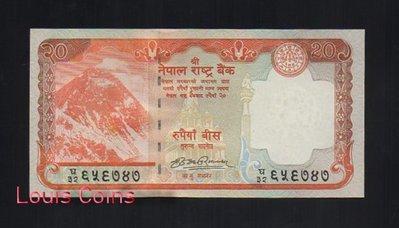 【Louis Coins】B119-NEPAL--2012尼泊爾聖山 聖母峰 珠穆朗瑪峰紙幣20 Rupees