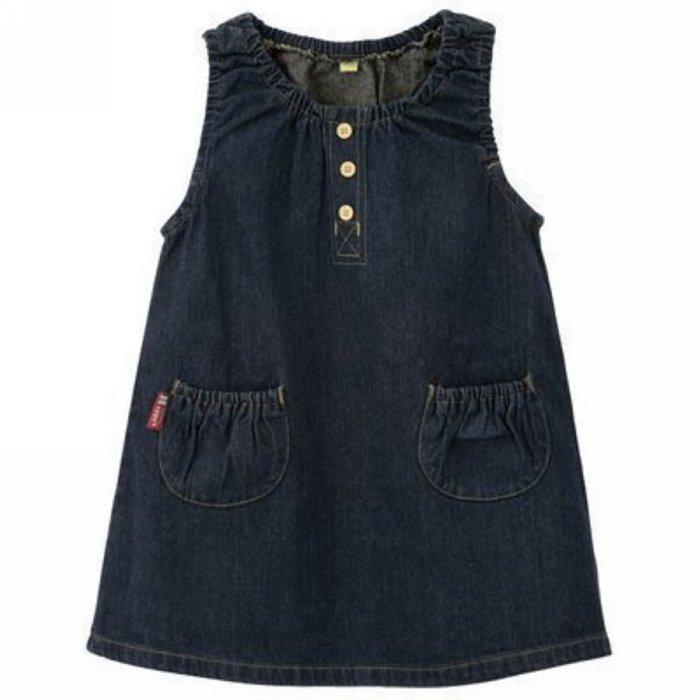 ❤厤庭童裝舖❤最後一件【B075】牛仔背心休閒連身裙/洋裝(140CM)