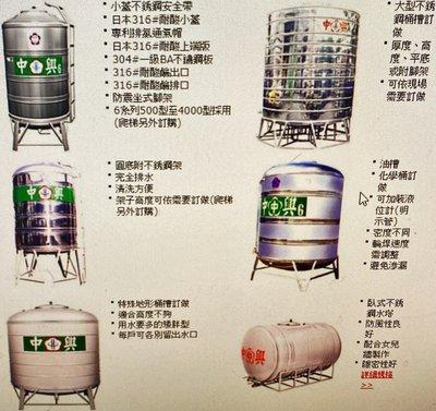 中興水塔 白鐵平底水塔1噸(1000型)正304白鐵..只賣4800元~水電材料.美康生活館
