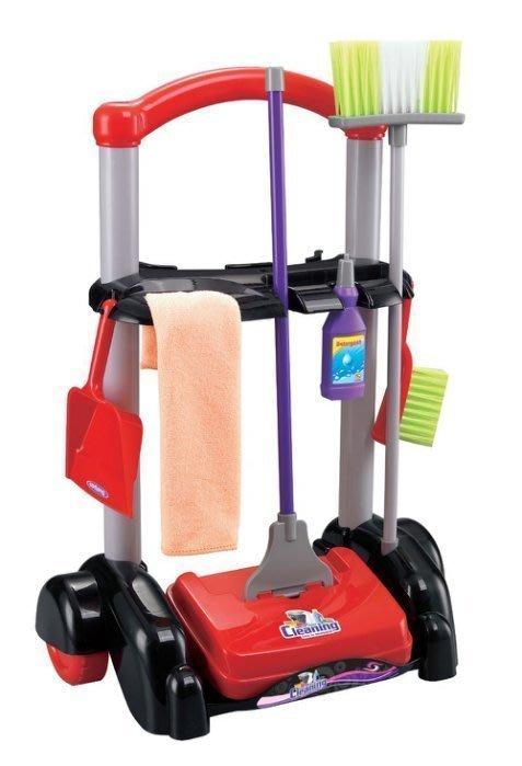 仿真清潔手推車組~兒童居家清潔工具推車~家家酒玩具◎童心玩具1館◎