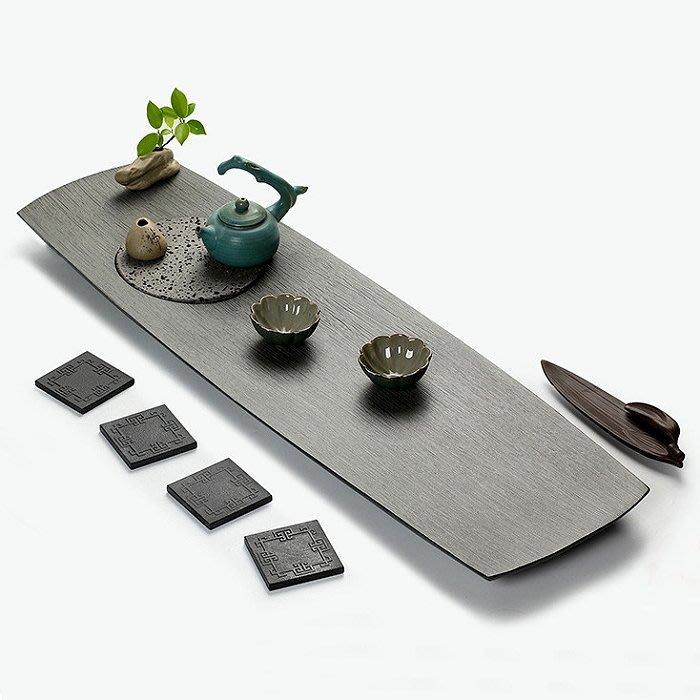【睿智精品】石茶盤 功夫茶盤 茗茶 泡茶石盤 烏金石茶盤(GA-4405)