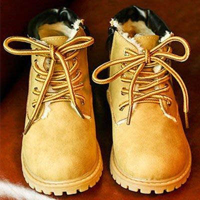 短靴 時尚潮流綁帶粗跟馬丁靴童鞋【S1419】☆雙兒網☆