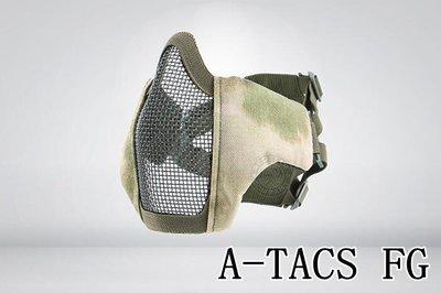 [01] CM1 武士 半罩式 A-TACS FG ( 護目鏡眼罩防護罩面罩面具口罩護嘴護具防彈頭套鳥嘴射擊角色扮演