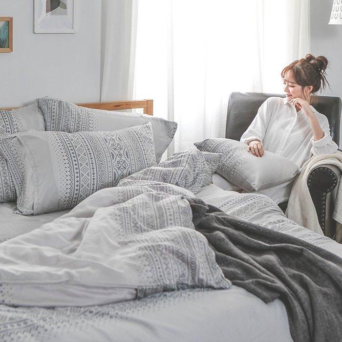 床包被套組 / 雙人【爵色風華】含兩件枕套  60支天絲  戀家小舖台灣製AAU212