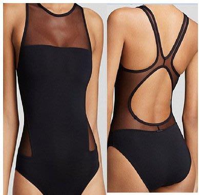 東大門平價鋪  新款外貿維多連身式 網沙泳衣,性感三角連身式比基尼 泳裝