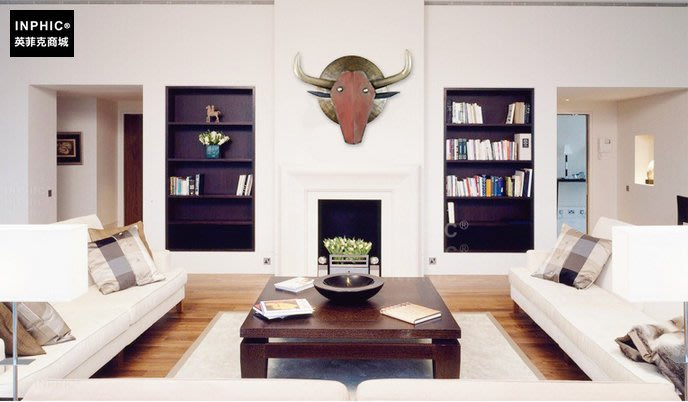 INPHIC-復古創意動物壁飾壁掛牆上裝飾品咖啡廳裝飾_S01902C